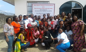 A group of midwives during the International Day of the Midwife.